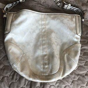 White coach signature bag